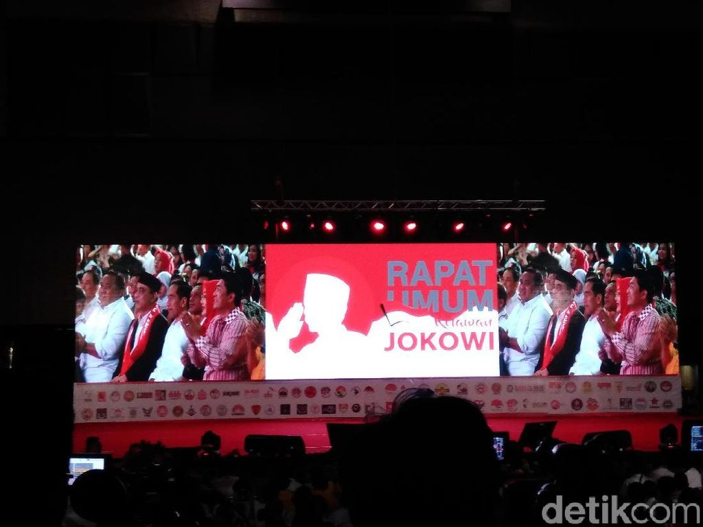 Jokowi Hadiri Rapat Umum Relawan di Bogor