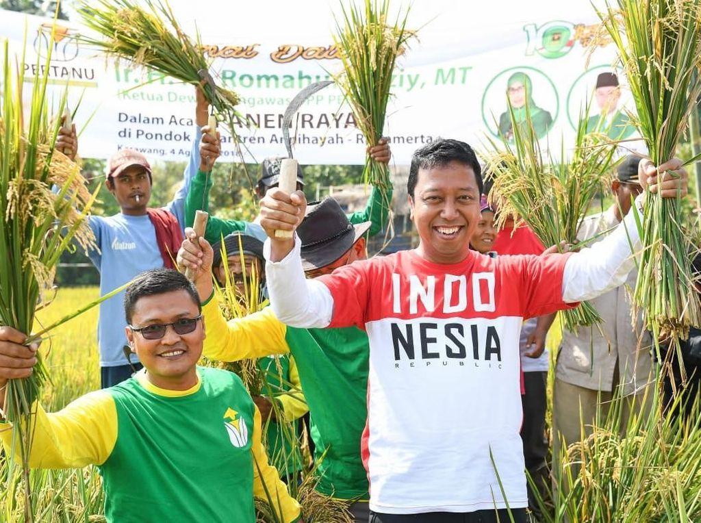 Rommy Ingin Sawah Percontohan PPP di Karawang Bisa Bantu Petani
