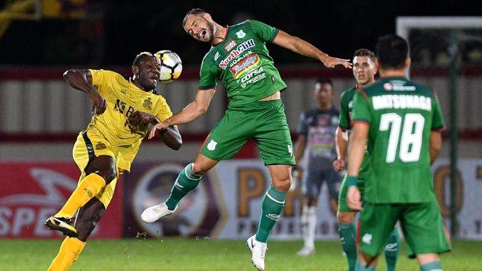 Bhayangkara FC mengalahkan PSMS Medan dengan skor 3-1 (Foto: Sigid Kurniawan/Antara Foto)