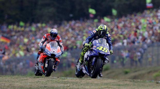 Valentino Rossi berusaha mempertahankan posisi ketiga di klasemen MotoGP 2018.