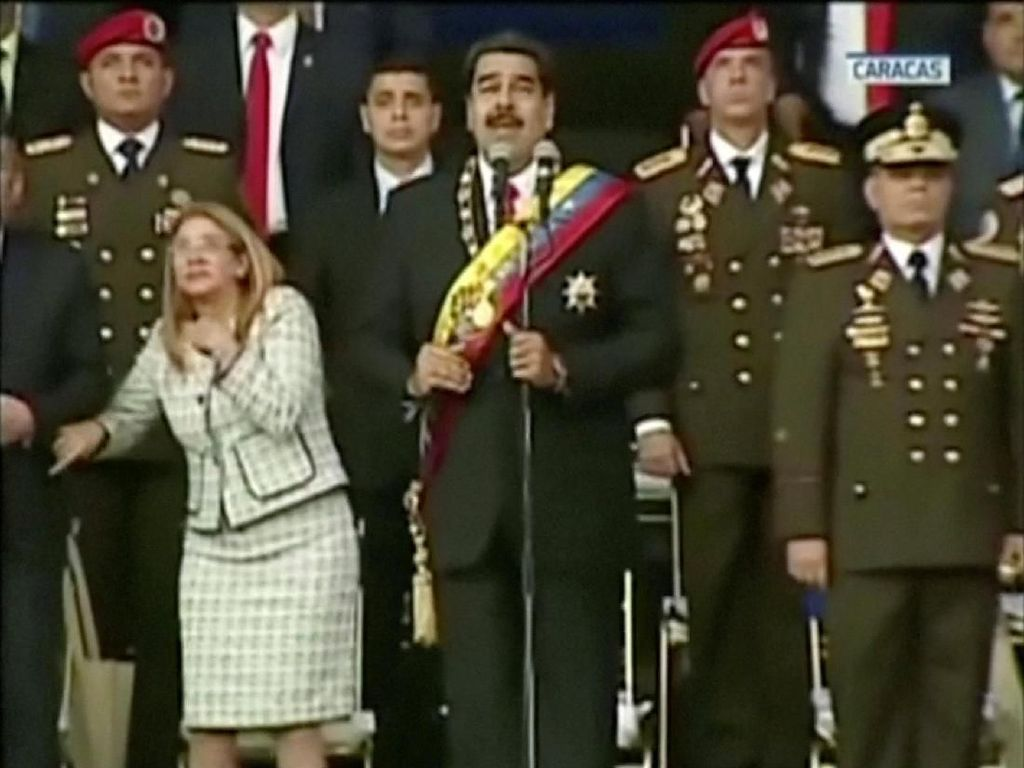 Ledakan Drone Hentikan Pidato Presiden Venezuela