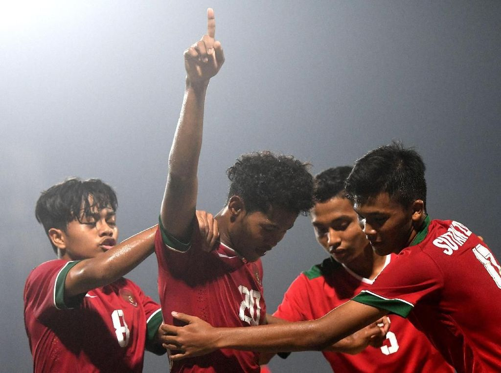 Timnas U-16 Menang 5-0 atas Tim Malaysia di Laga Uji Coba