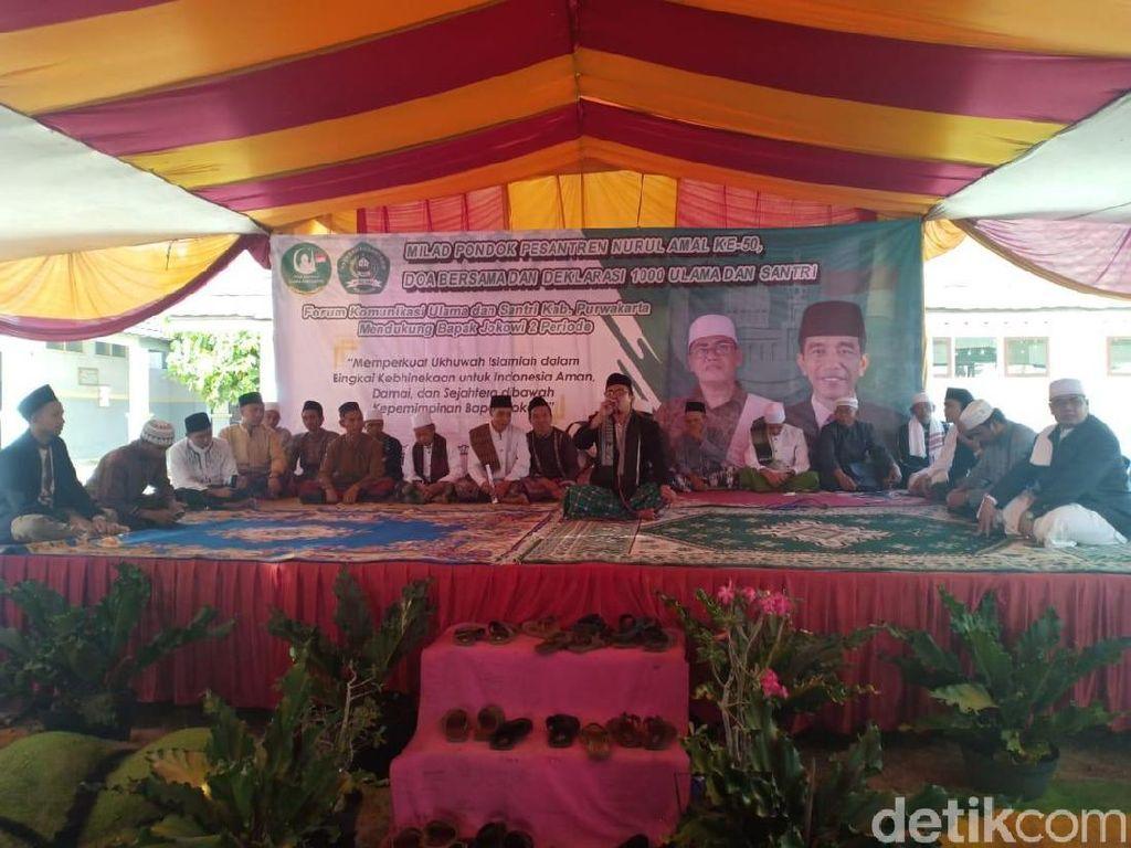 Ulama dan Santri Purwakarta Rapatkan Barisan Dukung Jokowi