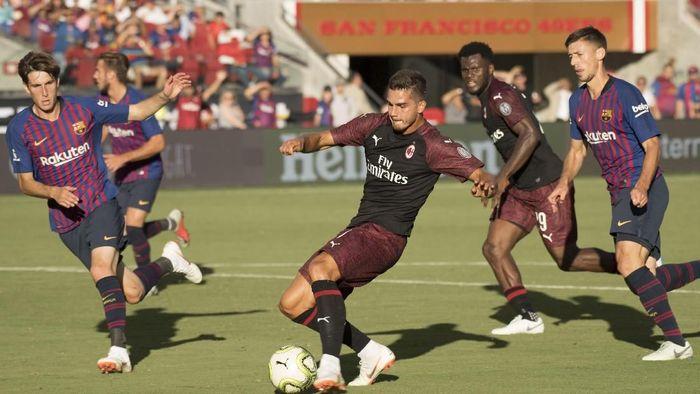 Gol Andre Silva menangkan Milan atas Barcelona. (Foto: Kyle Terada-USA TODAY Sports/REUTERS)