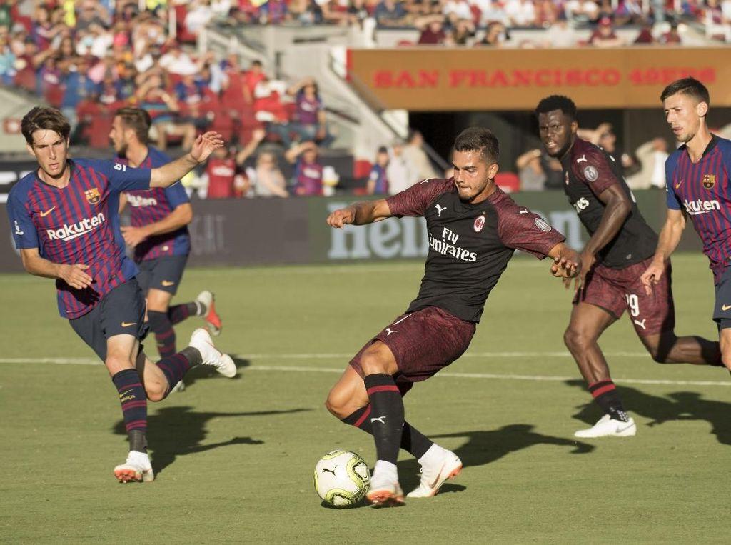 Hasil ICC 2018: Gol Dramatis Andre Silva Menangkan Milan atas Barcelona