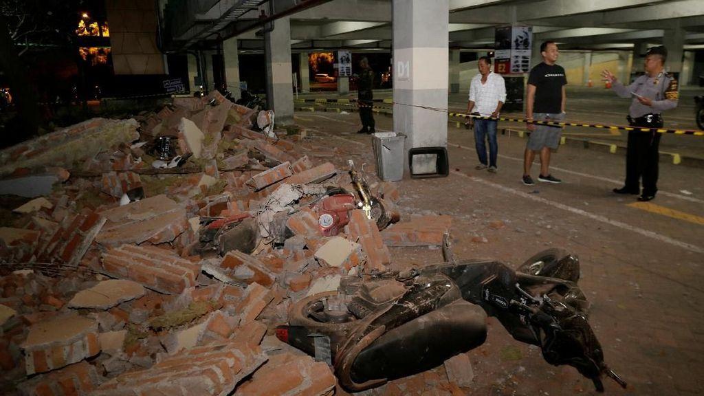 Potret Kerusakan di Bali Akibat Gempa Lombok 7 SR