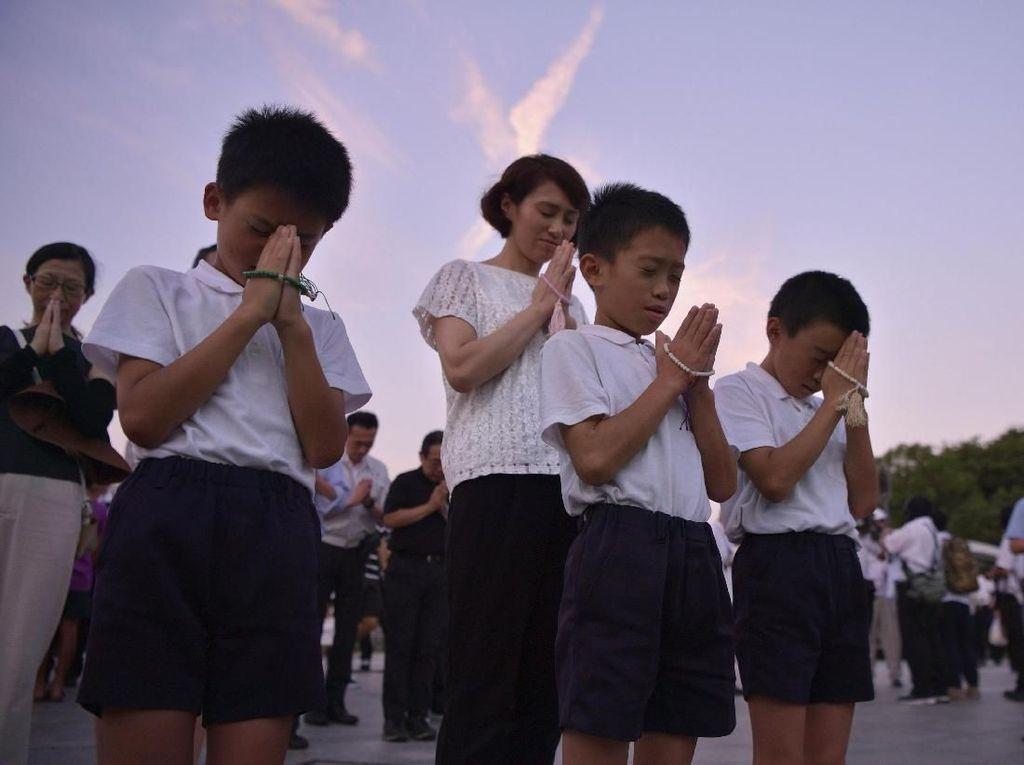 Khidmatnya Seremoni Peringatan 73 Tahun Bom Atom Hiroshima