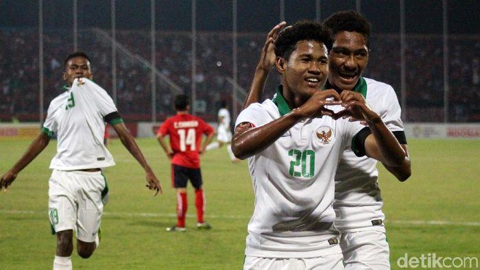 Timnas Indonesia U-16 mengalahkan Kamboja 4-0 di Piala AFF U-16 2018 (Foto: Suparno/detikSport)