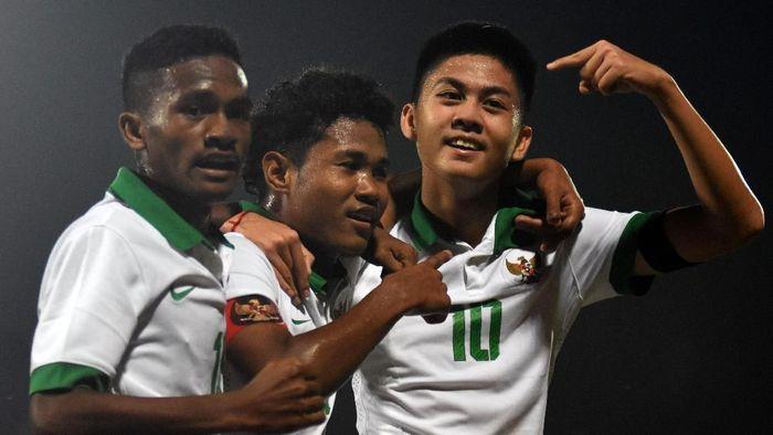 Indonesia lolos ke final Piala AFF U-16 2018 usai kalahkan Malaysia (M Risyal Hidayat/Antara Foto)