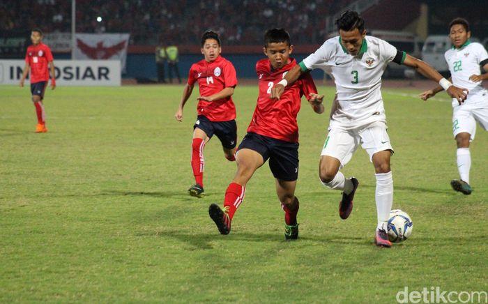 Indonesia berhadapan dengan Kamboja di Stadion Gelora Delta, Sidoarjo, Senin (6/8/2018). Ini adalah laga kelima Indonesia di Piala AFF U-16 2018. Foto: Suparno/detikSport