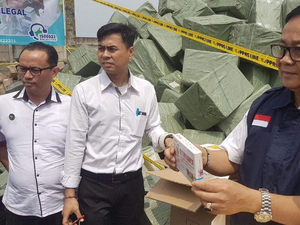 Kosmetik Ilegal Rp 41 Miliar di Tangerang Dibongkar BPOM