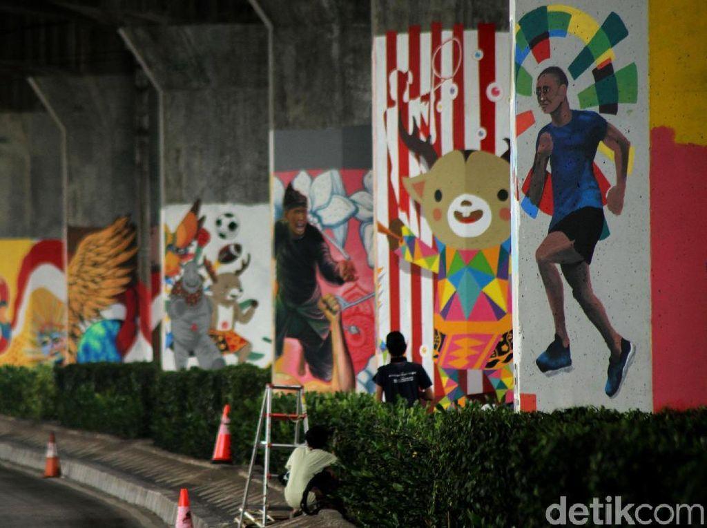 Keren! Mural dari 200 Seniman Percantik Ibu Kota