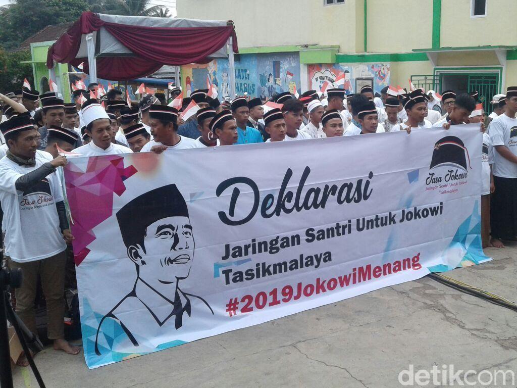 Jaringan Santri Tasikmalaya Deklarasi Dukung Jokowi
