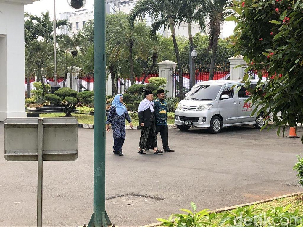 Jelang Pengumuman Cawapres Jokowi, Maruf Amin Datangi Istana