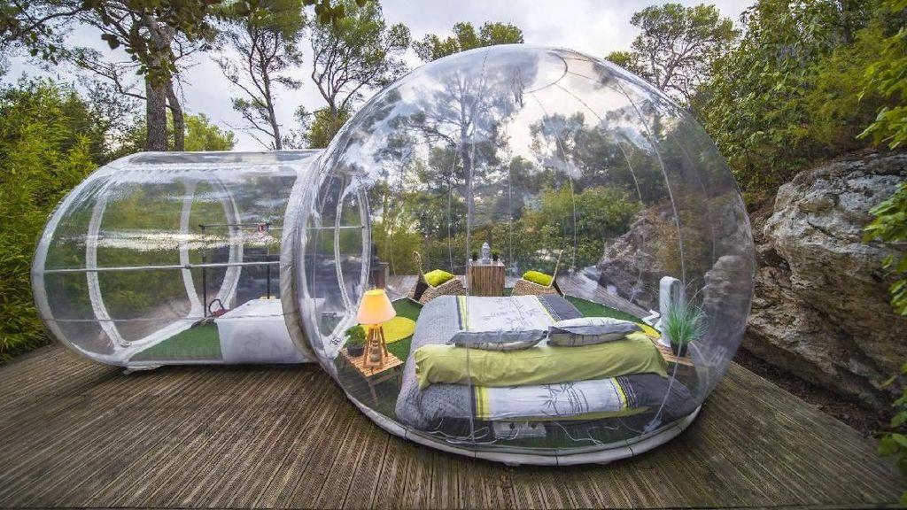 Foto: Hotel Gelembung Transparan di Prancis