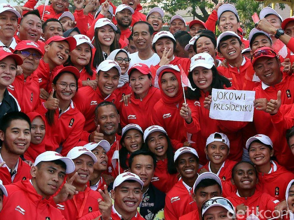 Lepas Kontingen Asian Games, Jokowi Beri Motivasi dan Ingatkan Target