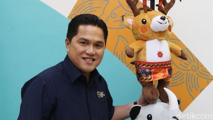 Erick Thohir ramai dukungan untuk menjadi ketua umum PSSI. (Foto: Agung Pambudhy/detikSport)