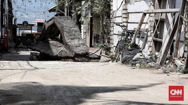 Gili Trawangan pasca-gempa Lombok, NTB.