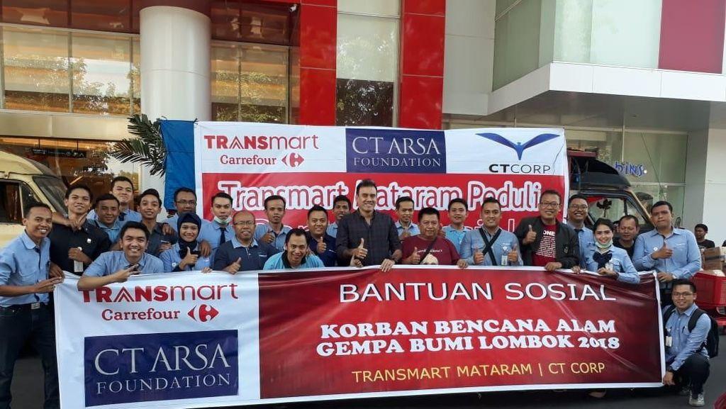 Bersama CT ARSA, Transmart Carrefour Kirim Bantuan ke Korban Gempa
