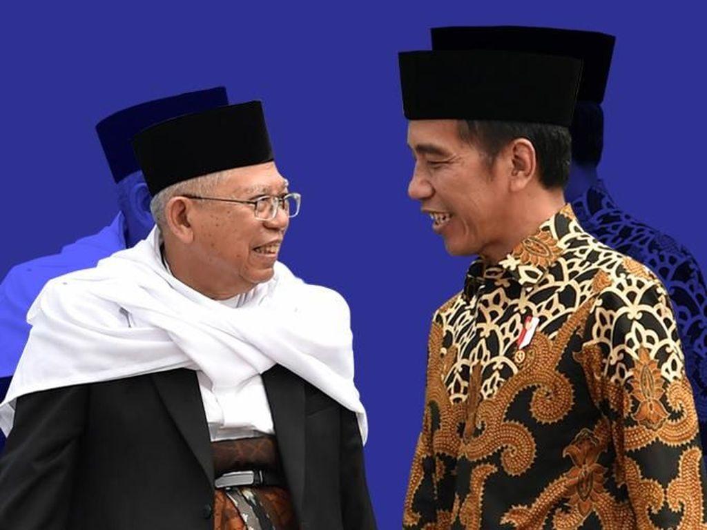 Survei Median: 55,4% Puas dengan Kinerja Jokowi-Maruf, Kurang di Ekonomi