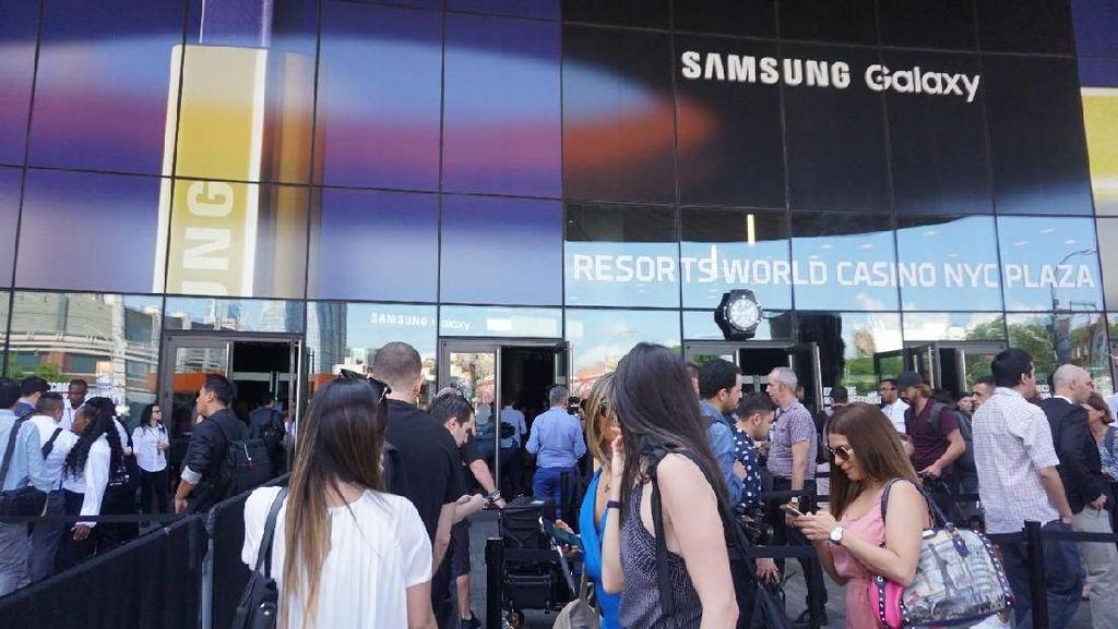 Keramaian Jelang Samsung Unpacked 2018