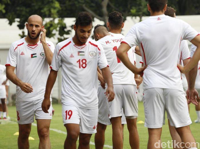 Timnas Palestina berlatih jelang tampil di Asian Games 2018 (Rachman Haryanto)