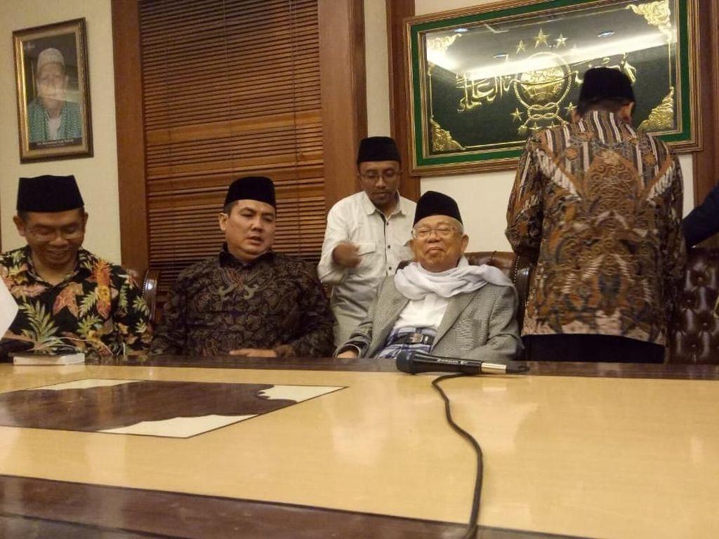Dipilih Jokowi Cawapres, KH Maruf Amin Datangi PBNU