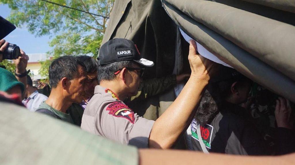 Foto: Penampakan Tenda Operasi di RS Lapangan Lombok Utara