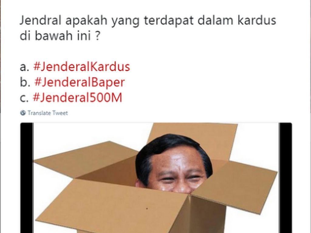 Meme Kocak #JenderalKardus vs #JenderalBaper