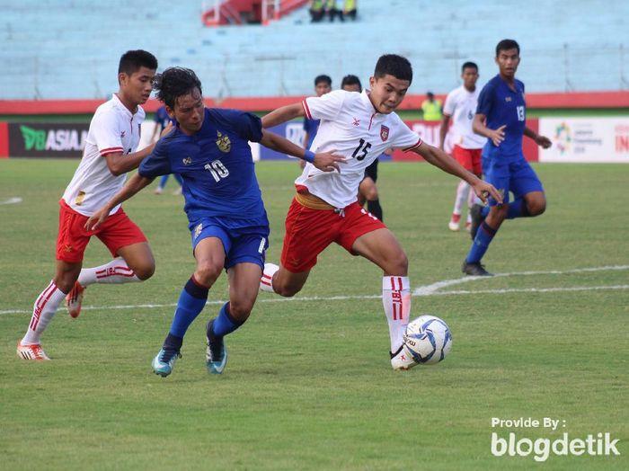 Thailand lolos ke final Piala AFF U-16 usai kalahkan Myanmar (Suparno/detikSport)