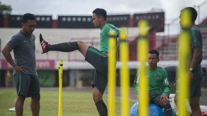 Timnas Indonesia U-23 melakukan pemusatan latihan di Bali menjelang Asian Games 2018 (Foto: Nyoman Budhiana/Antara Foto)
