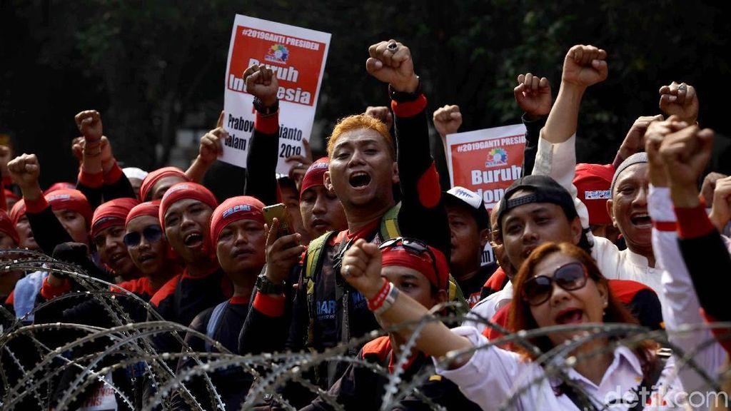 Dukungan Buruh KSPI dan FPMSI untuk Prabowo-Sandi