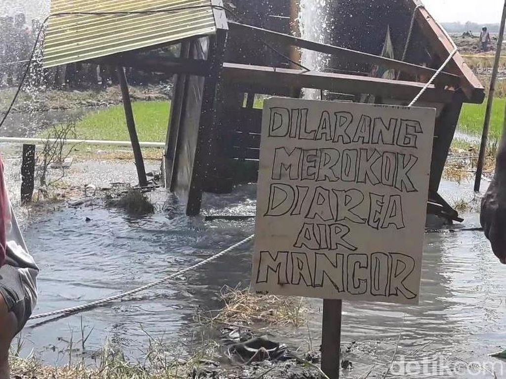 Hiii...Ada Ular Muncul di Lokasi Semburan Air di Ngawi