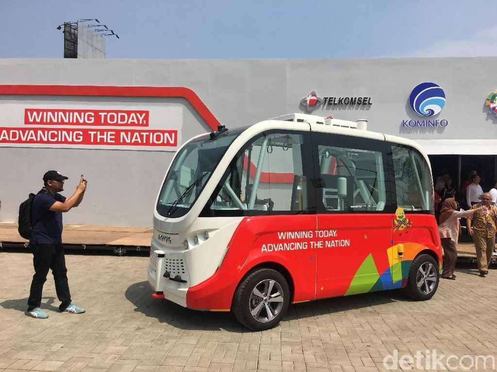 Telkomsel Bawa Bus Hantu ke Asian Games 2018