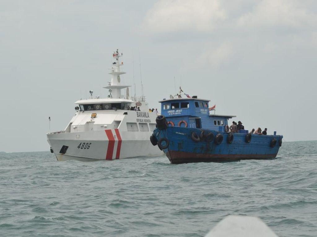 Latihan gabungan Bakamla dan BNN Kejar Kapal Pengangkut Narkoba