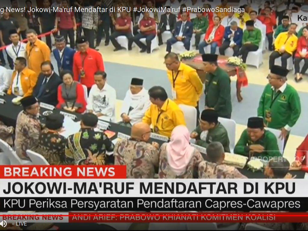 KPU Coret PSI-Perindo dari Daftar Parpol Pengusung Jokowi-Maruf