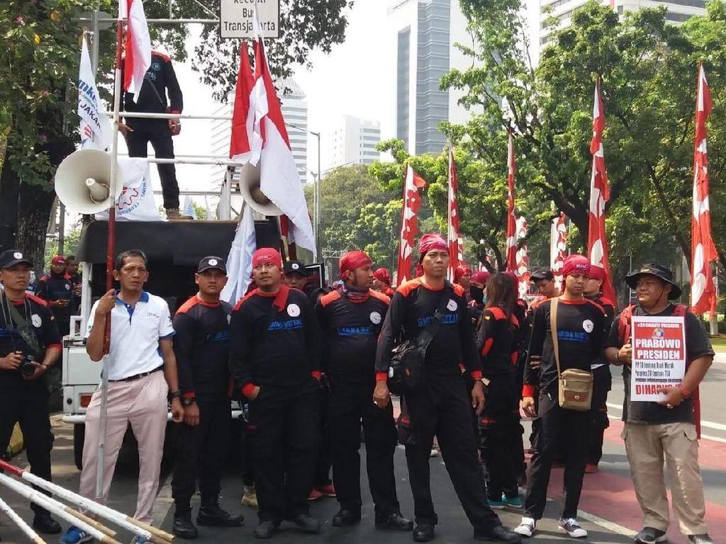 Massa Prabowo yang ke KPU Dilewatkan ke Bundaran HI, Ini Rutenya