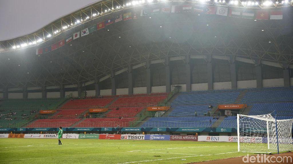 Laga Sepakbola Perdana Asian Games 2018 Sepi Penonton