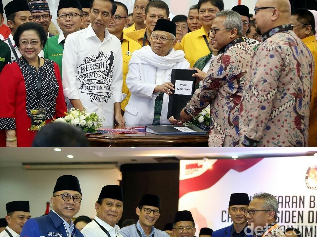 Adu Kuat Jokowi-Maruf vs Prabowo-Sandiaga di Survei LSI