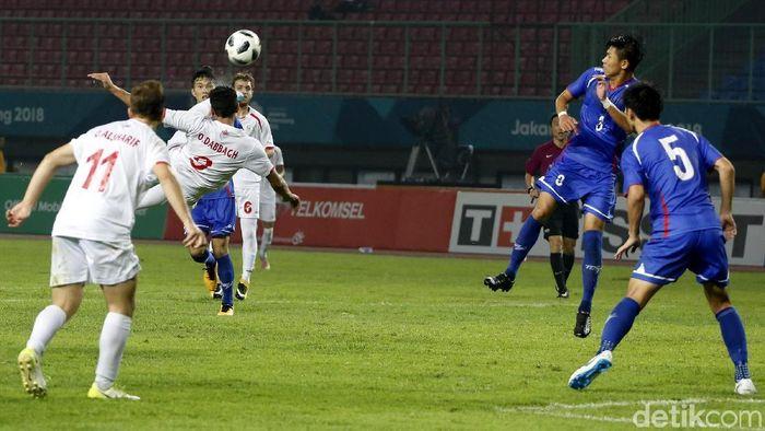 Taiwan bermain imbang 0-0 dengan Palestina di laga pertama Asian Games 2018 (Foto: Rachman Haryanto)