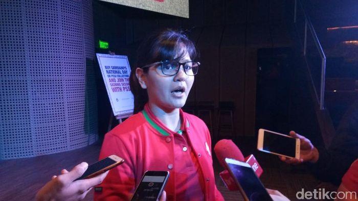 Sekjend PSSI Ratu Tisha (Amalia Dwi Septi/detikSport)