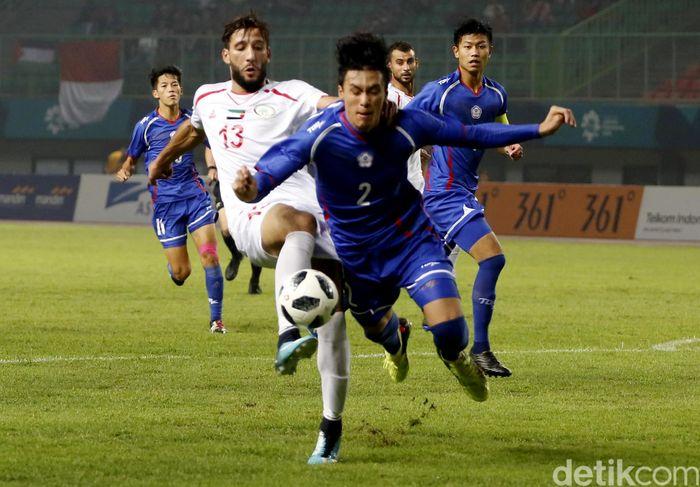 Palestina harus rela berbagi satu poin dengan Taiwan di babak penyisihan Grup A Asian Games 2018.