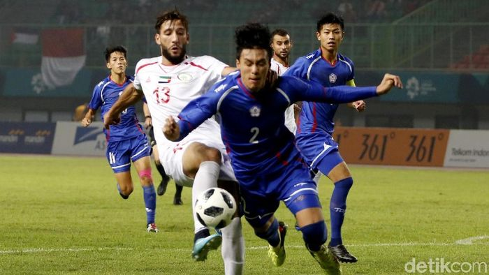 Timnas Taiwan di Asian Games 2018. (Foto: Rachman Haryanto/detikcom)