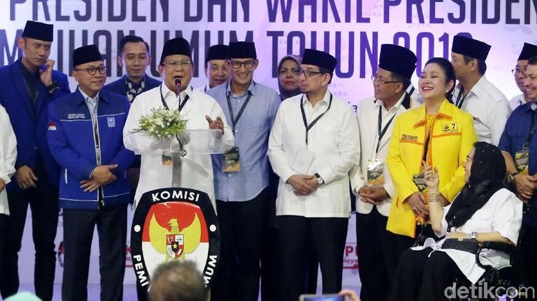 Kubu Prabowo-Sandi Mau Nomor Urut Berapa?