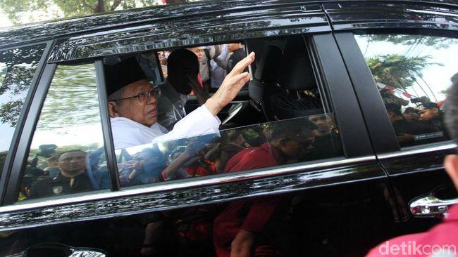 Soal Posisi di PBNU, Ma'ruf Amin Serahkan ke Mekanisme Internal