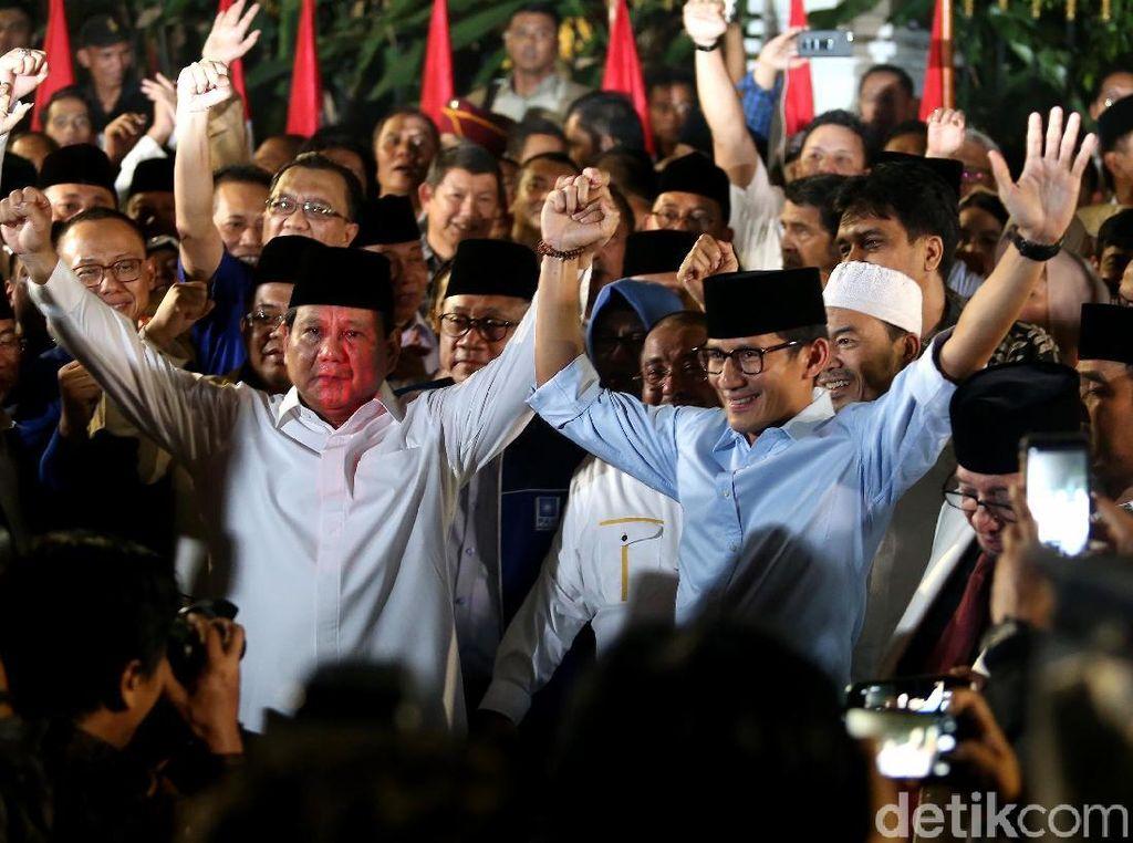 Kemeriahan Deklarasi Prabowo-Sandiaga Jadi Capres-Cawapres