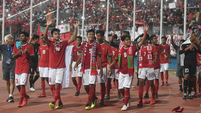 Indonesia menghadapi Iran di laga pertama Piala Asia U-16. Simak jadwalnya berikut ini  (ANTARA FOTO/Zabur Karuru)