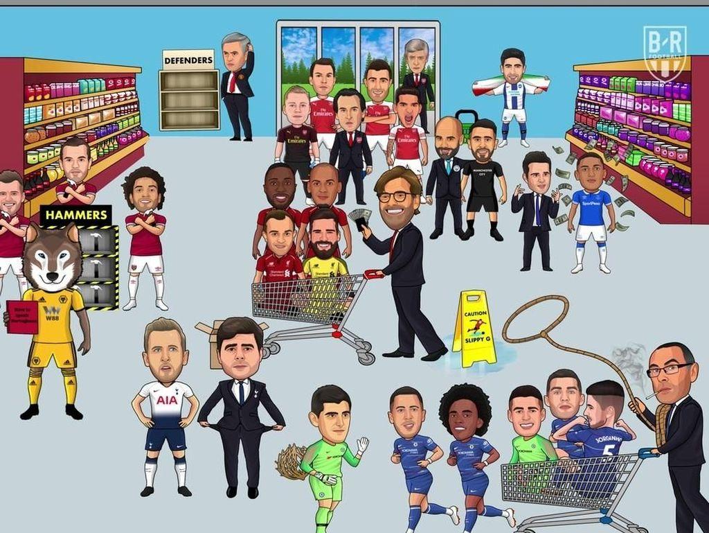 Bursa Transfer Ditutup, MU & Spurs Jadi Korban Meme