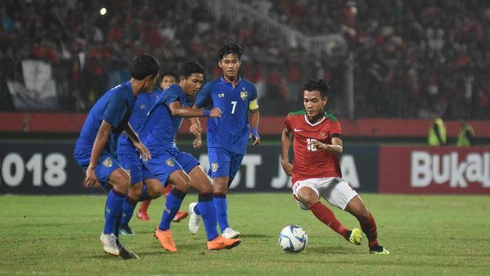 Laga final digelar di Stadion Gelora Delta, Sidoarjo, Sabtu (11/8/2018), dan berakhir imbang 1-1 di waktu normal. Foto: M Risyal Hidayat/ANTARA FOTO