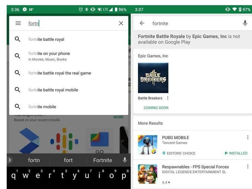 Google: Tak ada Fortnite Battle Royale di Play Store